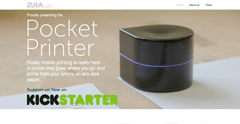 Mini Mobile Robotic Printer 〜ワイヤレスで紙の上を動いて印字できるポータブルプリンター