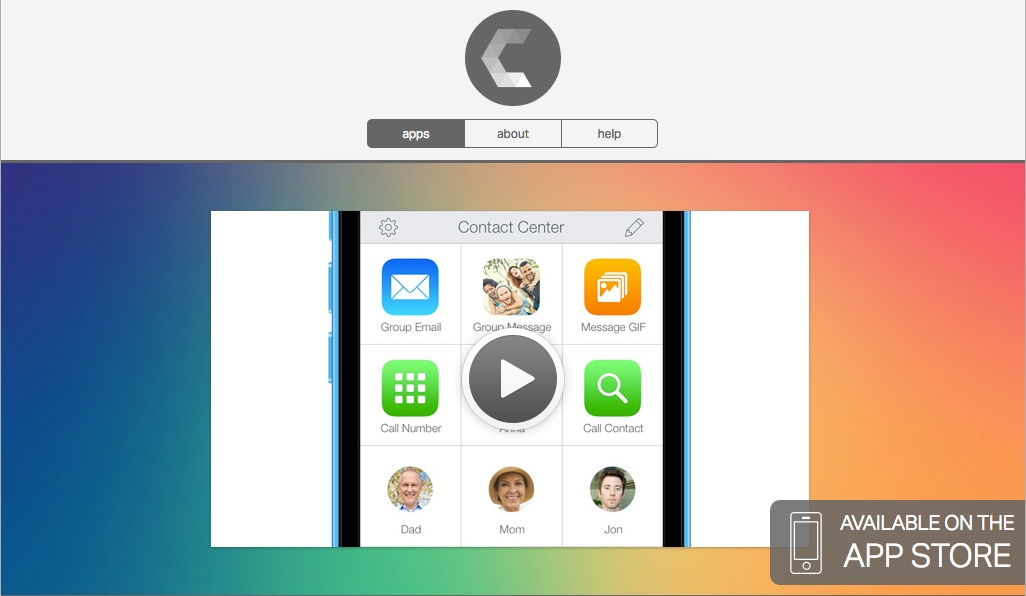 「Contact Center 」~複数のアプリを1タップで使えるショートカットアプリ