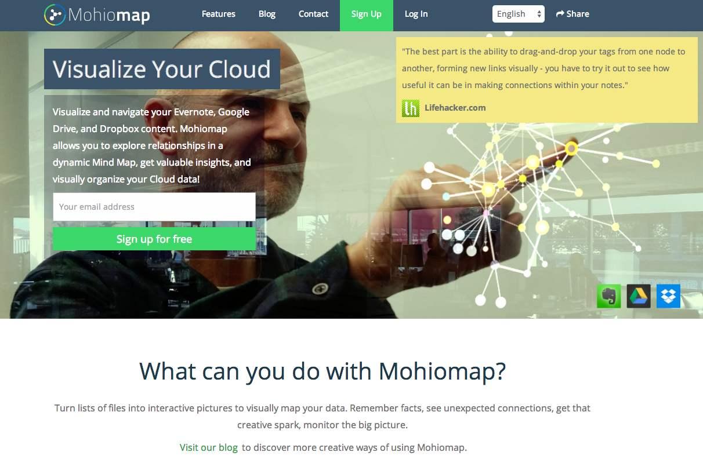 「Mohiomap」〜Evernoteに整理した自分のデータをマインドマップ化でビジュアライズ。