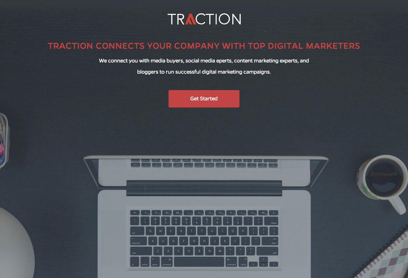 「Traction」〜企業とトップマーケターをマッチング。
